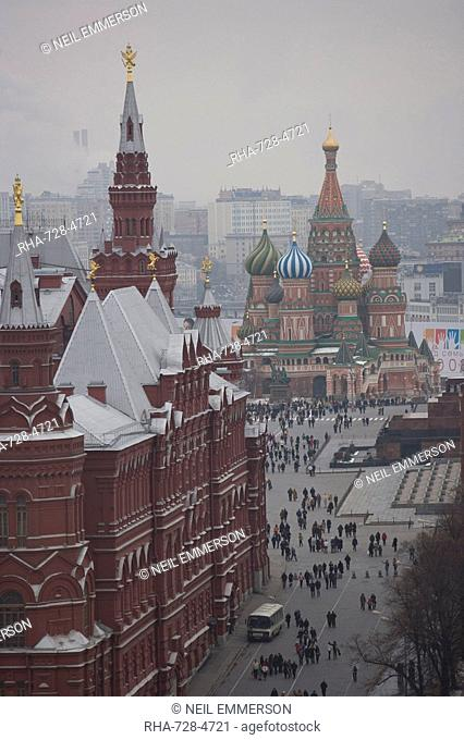 Red Square, UNESCO World Heritage Site, Moscow, Russia, Europe