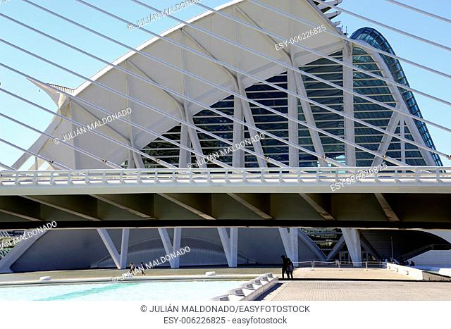 Science Museum Principe Felipe in the City of Arts and Sciences in Valencia, Spain