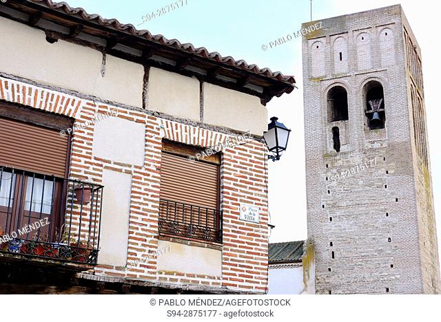 Church of San Martin. Plaza de la Villa or Main square of Arevalo, Avila, Spain