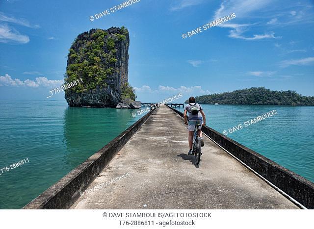Nail rock and bridge at Ta Lo Wow, Ko Tarutao Island, Thailand