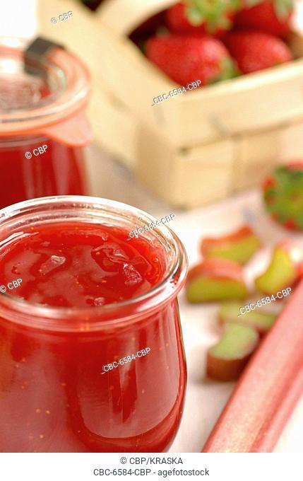 Glass of Strawberry Jam