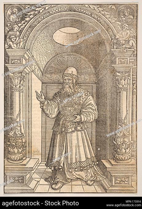 Aaron, from De Biblie uth der uthlegginge Doctoris Martini Luthers. Series/Portfolio: De Biblie uth der uthlegginge Doctoris Martini Luthers; Artist: Erhard...