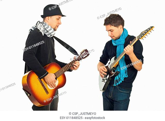 Musical band of two men