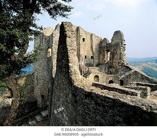 Ruins of Matilda of Canossa's Castle in Ciano d'Enza (Reggio Emilia), Emilia-Romagna. Italy, 10th century