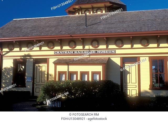 Cape Cod, train station, Massachusetts, Chatham Railroad Museum in Chatham, Massachusetts