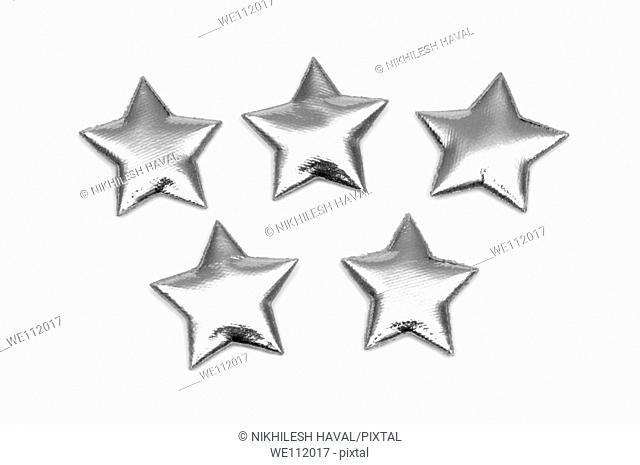 5 padded Silver stars