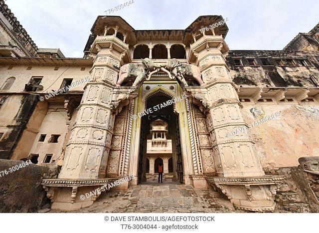 The magnificent Bundi Palace, Bundi, Rajasthan, India