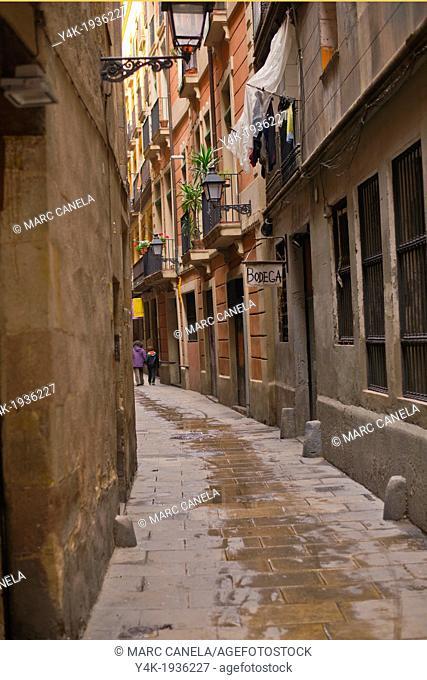 Europe, Spain, Barcelona, carrer de les mosques