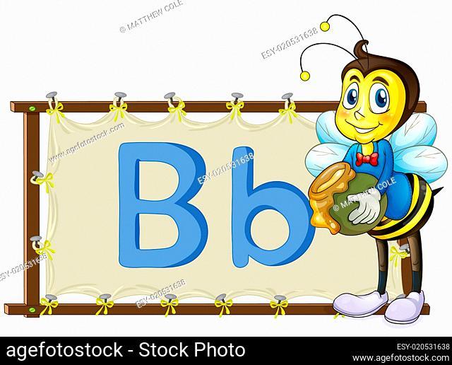 Alphabet letter on a canvas