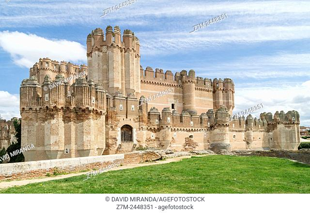 Castillo de Coca. Segovia province. Castile-Leon. Spain