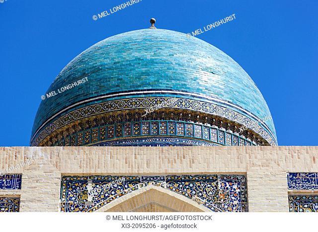 A dome of Mir I Arab Madrasah, Poi Kalon, Bukhara, Uzbekistan
