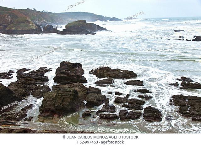 Porcía river. Playa de Porcía. Asturias. Spain