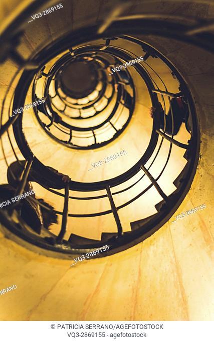Stairs arc of triumph, paris, europe