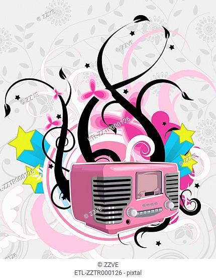 Radio with creative design
