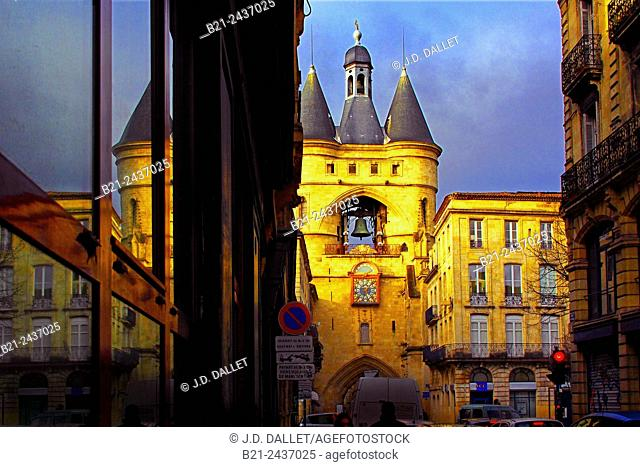 Grosse Cloche tower at Bordeaux, Gironde, Aquitaine, France