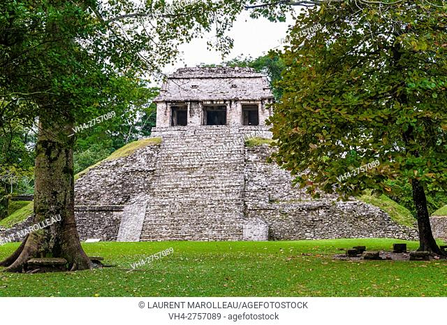 Temple of the Count, Palenque Mayan Archaeological Site, Palenque, State of Chiapas, Mexico, North America
