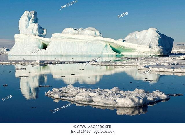 Ice floe and iceberg, Weddell Sea, Antarctica