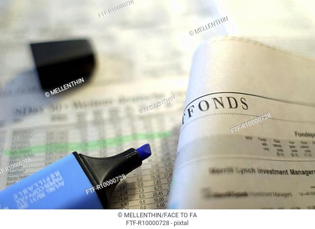 Fund reports in the newspaper
