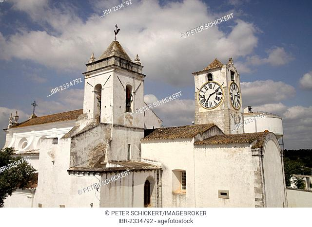 The church of Santa Maria do Castelo in the old town of Tavira, Algarve, Portugal, Europe