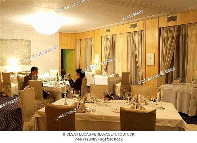 Restaurant of the Hotel Vila Bled.Bled, Slovenia