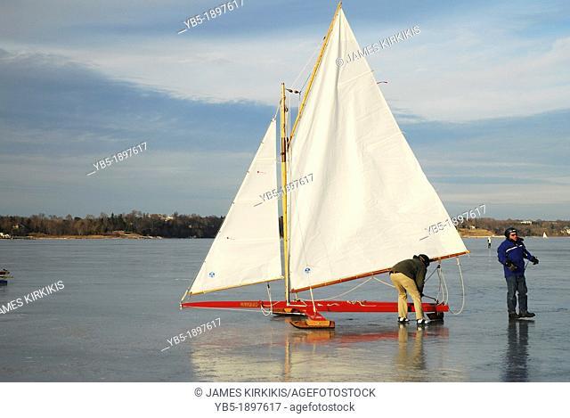 Ice yacht Regatta