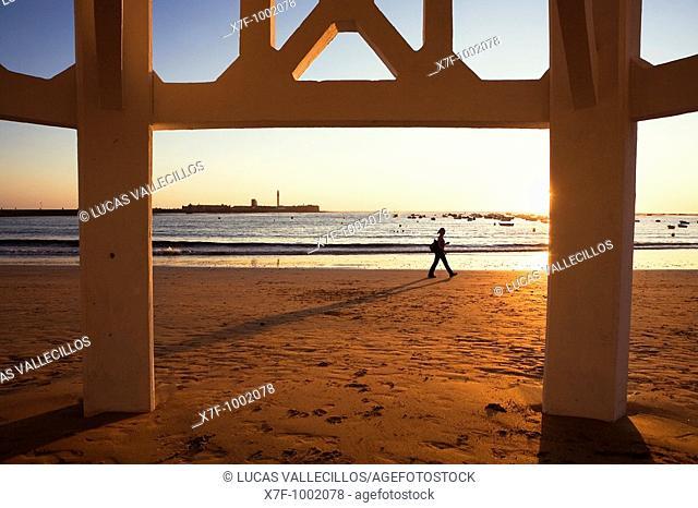 Caleta beach Cádiz, Andalusia, Spain