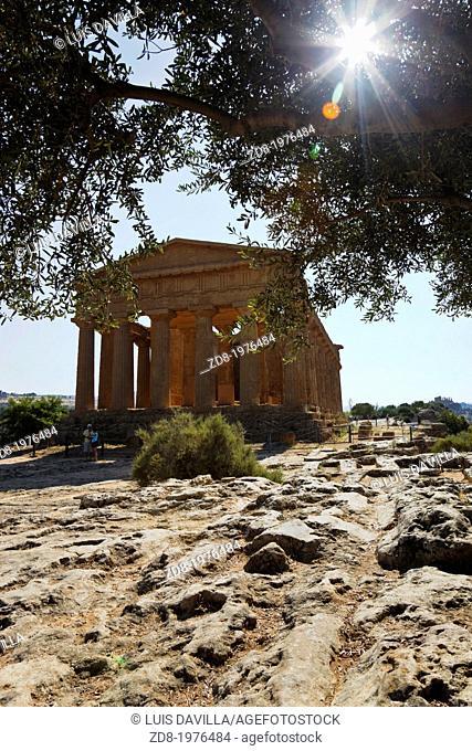 The Temple of Concordia in Agrigento, sicily