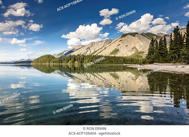 Muncho Lake Provincial Park in the Northern Rocky Mountains in British Columbia, Canada