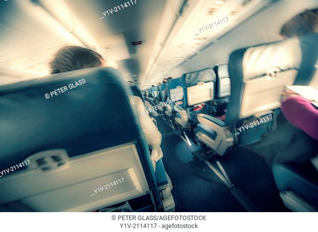 Passengers in an airplane