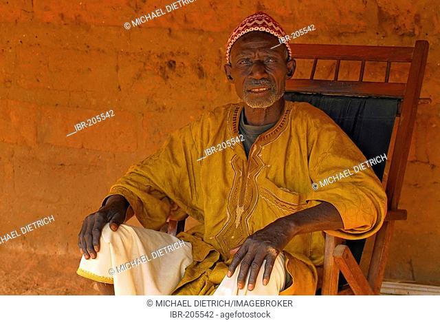 Village elder of the village community of Tumani Tenda, The Gambia, Africa