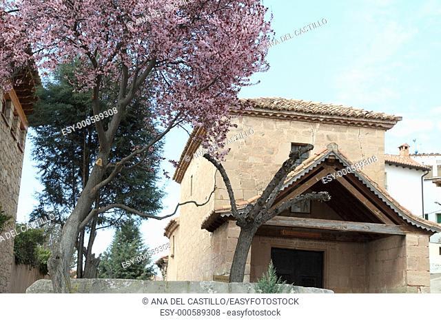 Santa Lucia chapel Mora de Rubiellos village Teruel province Aragon Spain