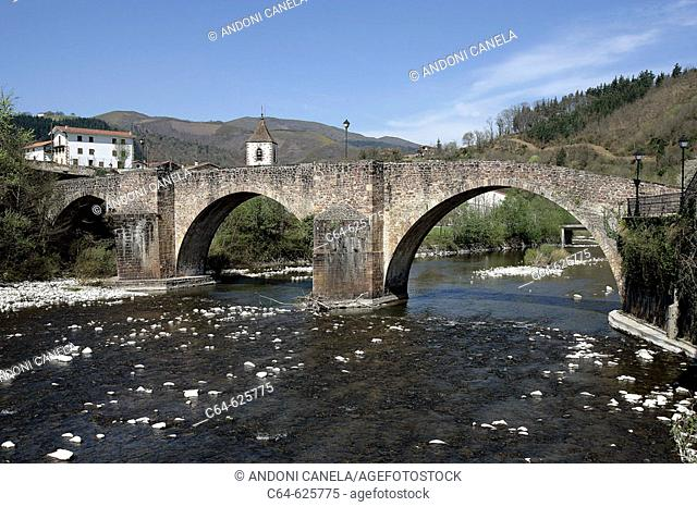 Bidasoa river. Sunbilla. País del Bidasoa. Bidasoa-Baztán. Navarra. Spain
