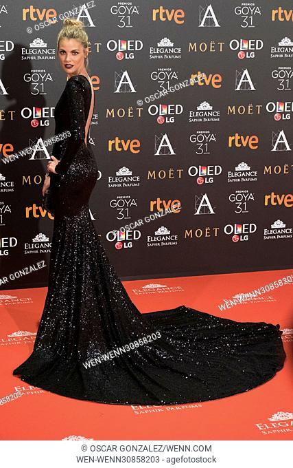 Goya Cinema Awards 2017 at Madrid Marriott Auditorium - Arrivals Featuring: Amaia Salamanca Where: Madrid, Spain When: 05 Feb 2017 Credit: Oscar Gonzalez/WENN