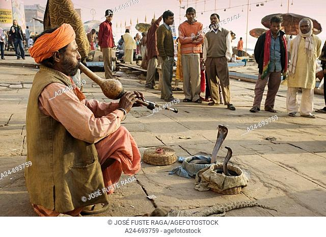 Uttar Pradesh, Benares City, Street scene. India