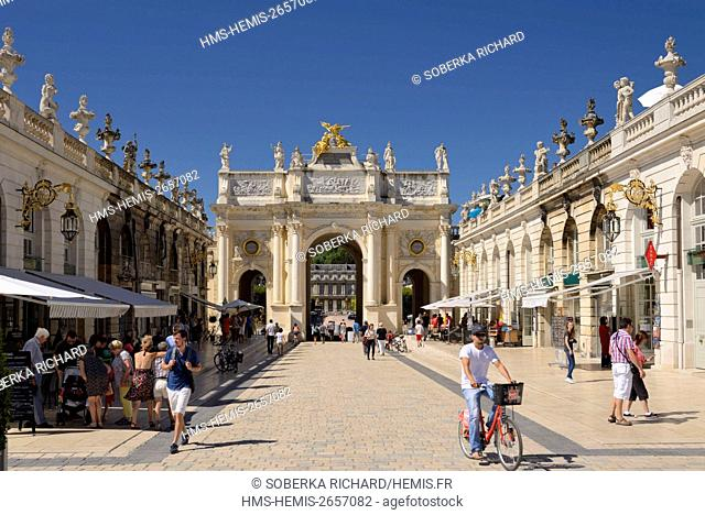 France, Meurthe et Moselle, Nancy, Place Stanislas or former Royal Place built by Stanislas Leszczynski, king of Poland and last Duke of Lorraine in the 18th...