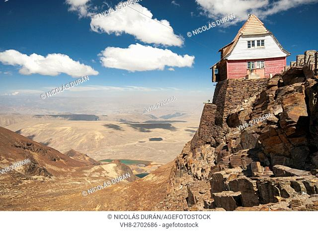 Old ski resort. Chacaltaya peak. La Paz Departament. Bolivia. Andes. South America