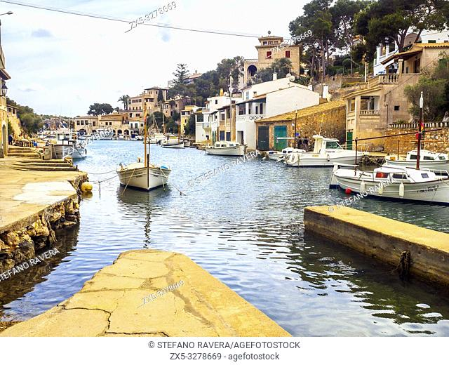 Fishing village of Cala Figuera in Majorca - Balearic Islands, Spain