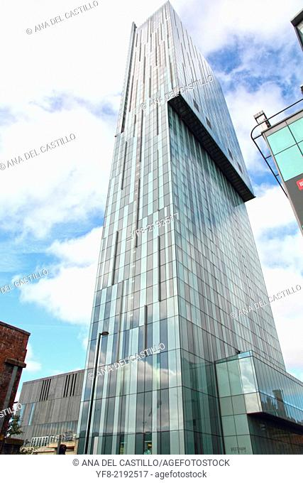 Beetham Tower is a 47-storey skyscraper designed by Ian Simpson. The tallest building in Manchester, England, UK