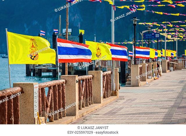 thailand national flag,phi phi island