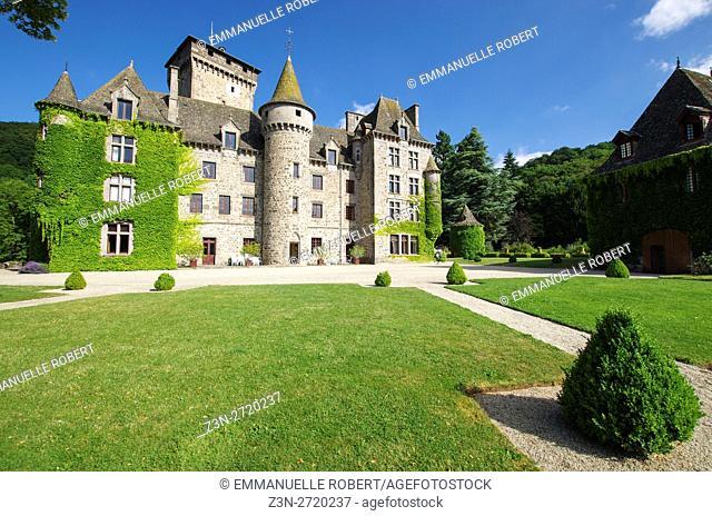 Pesteils Castle, Polminhac, Cantal , Auvergne, France, Europe