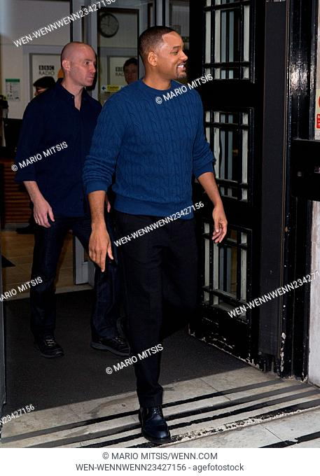 Will Smith arriving at the BBC Radio 2 studios Featuring: Will Smith Where: London, United Kingdom When: 29 Jan 2016 Credit: Mario Mitsis/WENN.com