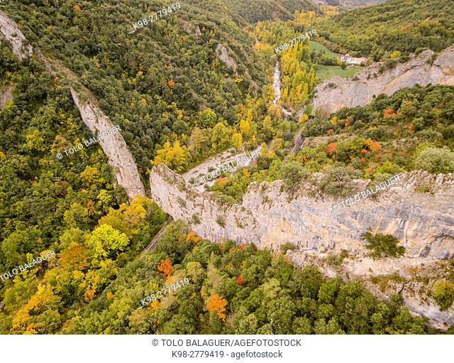 Foz de biniés, cordillera pirenaica, provincia de Huesca, Aragón , Spain, europe