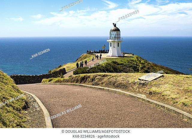 Lighthouse at Cape Reinga, Northland, New Zealand