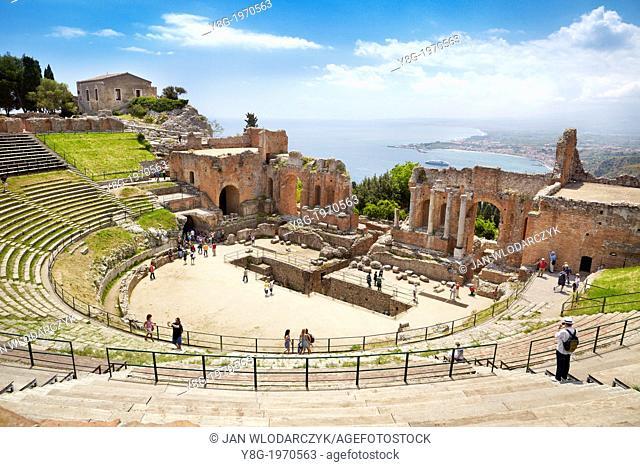 The Greek theatre in Taormina, Sicily, Italy