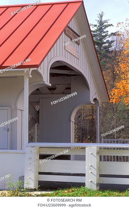 covered bridge, Ashuelot, New Hampshire, NH, Ashuelot Covered Bridge ca.1864 in Ashuelot in the autumn