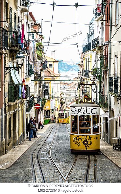 Elevador da Bica, Lisbon, Portugal Europe