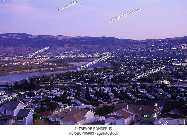City of Kamloops at sunset, British Columbia, Canada