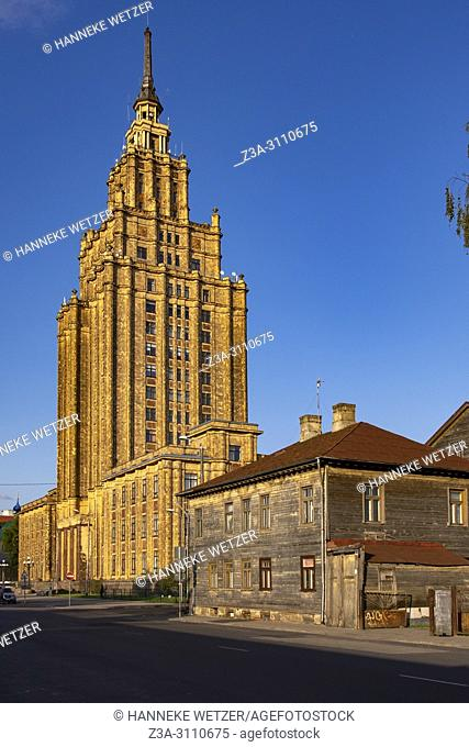 Latvian Academy of Science - Stalin's Birthday Cake in Riga, Latvia, Europe