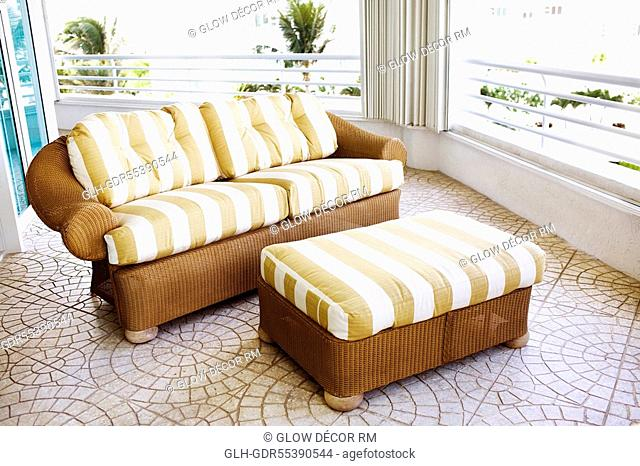 Couch in a balcony