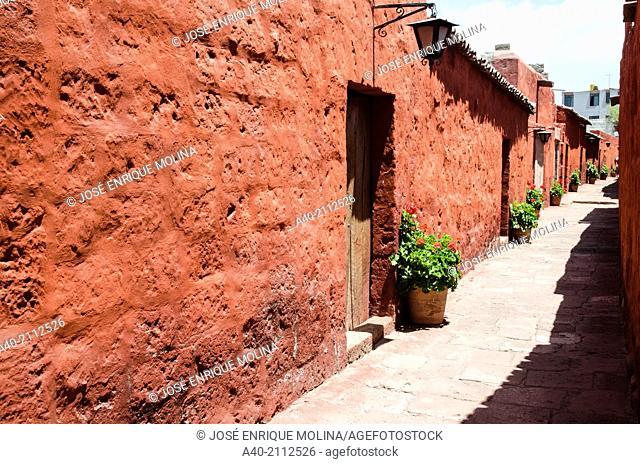 Santa Catalina of Siena Monastery 1579.Arequipa. Peru. UNESCO World Heritage Site